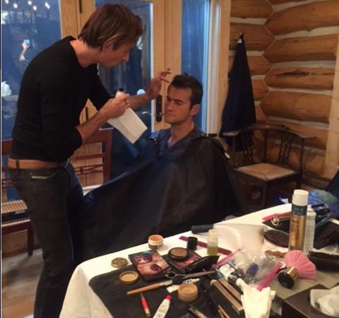 Eddie Gornik did our hair and make up…he's genius!